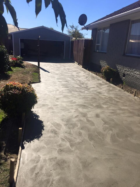 New driveway in Christchurch