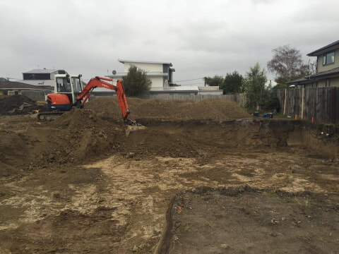 Foundation excavation Christchurch