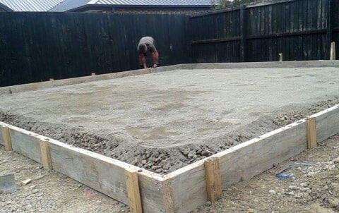 Concrete garage foundation prep
