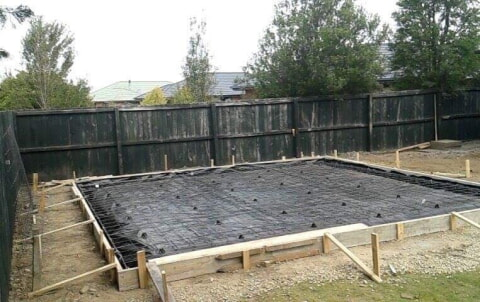 New garage foundation in Rolleston, Christchurch