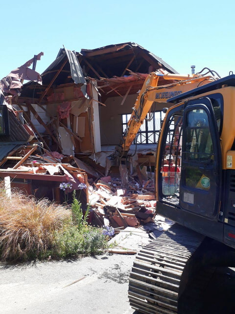 House demolition on Panorama road, christchurch
