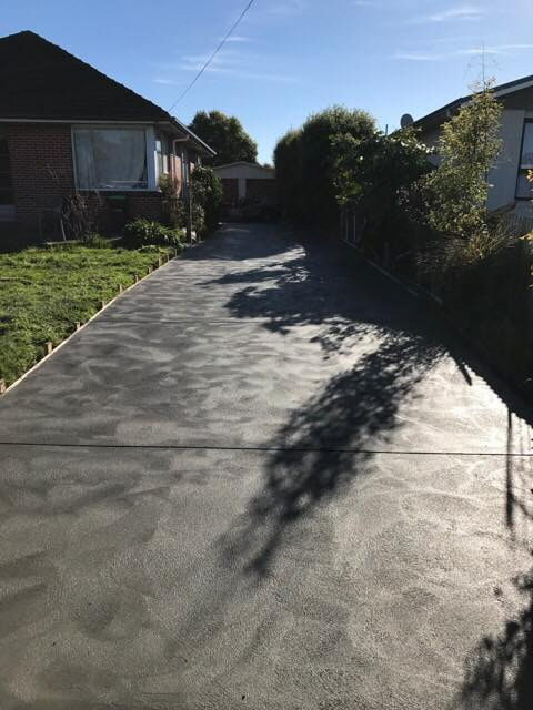 Fresh new concrete driveway, Christchurch