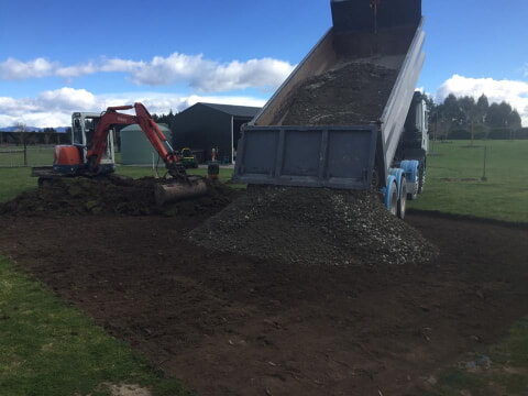 Start of a new widespan shed foundation in Leeston, Christchurch