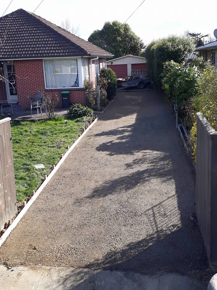 Start of new concrete driveway, Christchurch